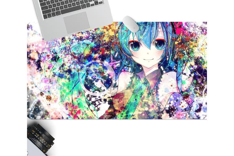 3D Hatsune Miku 247 Anime Desk Mat, W60cmxH30cm(24''x12'')