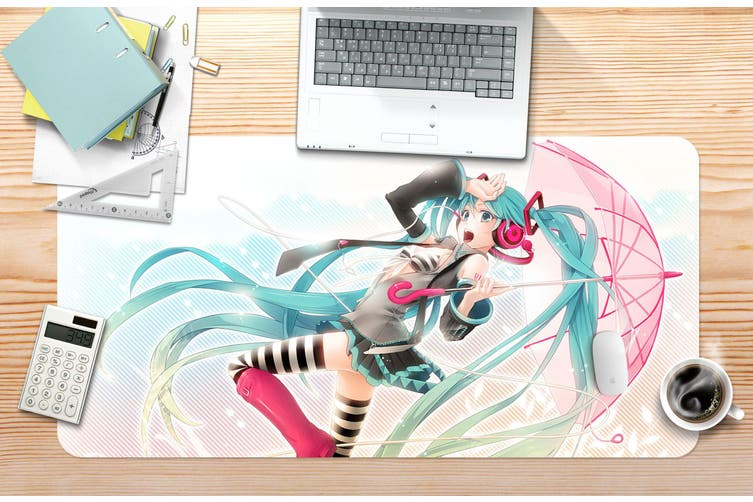 3D Hatsune Miku 246 Anime Desk Mat, W90cmxH40cm(35''x18'')