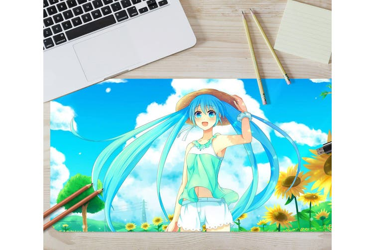 3D Hatsune Miku 243 Anime Desk Mat, W60cmxH30cm(24''x12'')