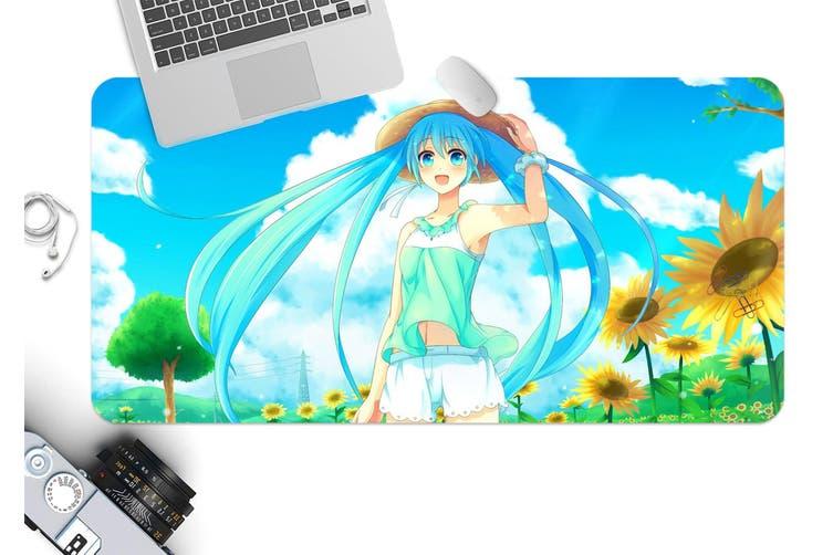 3D Hatsune Miku 243 Anime Desk Mat, W120cmxH60cm(47''x24'')