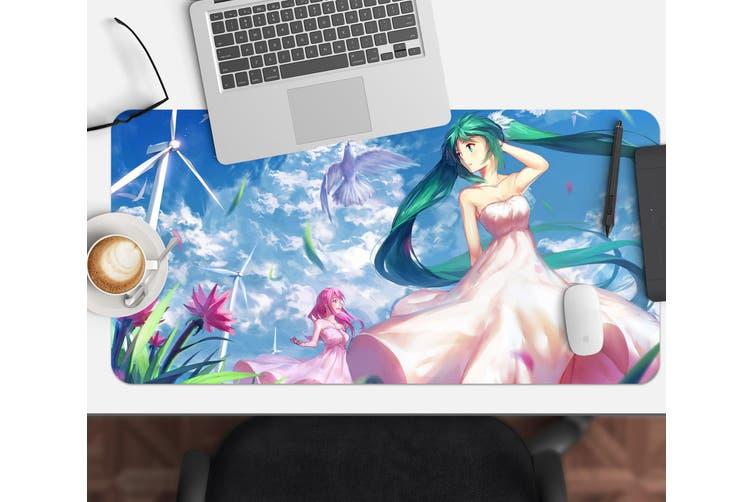3D Hatsune Miku 240 Anime Desk Mat, W120cmxH60cm(47''x24'')