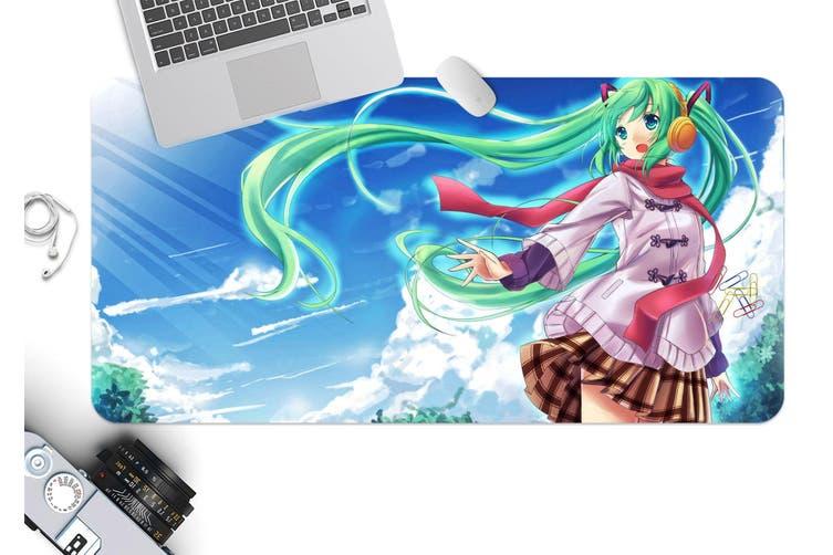 3D Hatsune Miku 239 Anime Desk Mat, W60cmxH30cm(24''x12'')
