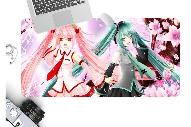 3D Hatsune Miku 235 Anime Desk Mat, W120cmxH60cm(47''x24'')