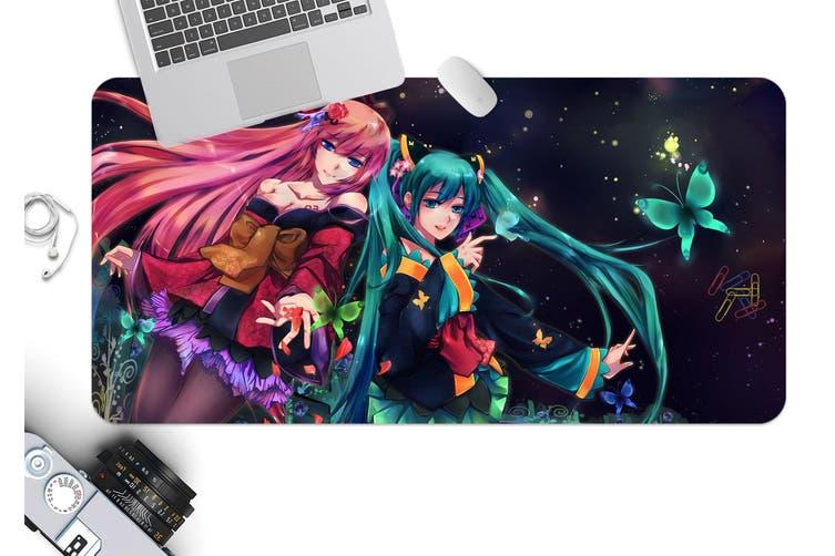 3D Hatsune Miku 233 Anime Desk Mat, W60cmxH30cm(24''x12'')