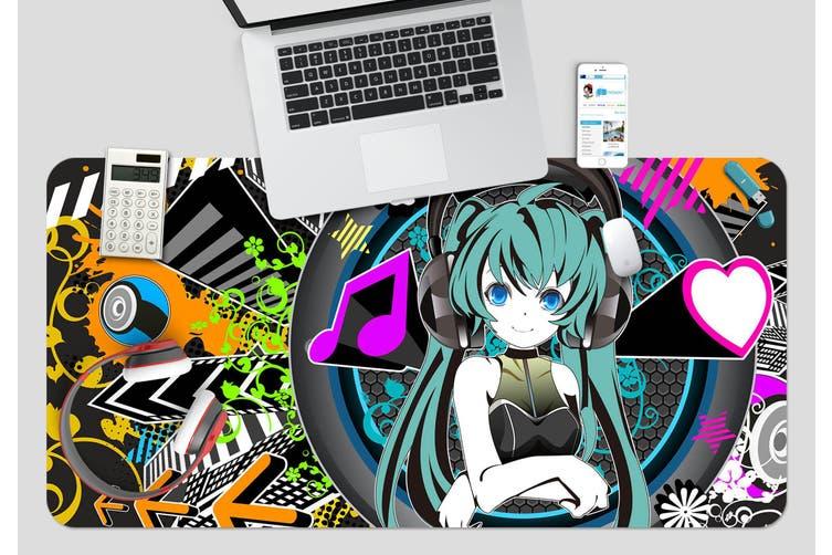 3D Hatsune Miku 232 Anime Desk Mat, W60cmxH30cm(24''x12'')