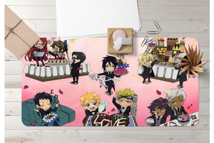 3D Black Butler 221 Anime Desk Mat, W120cmxH60cm(47''x24'')