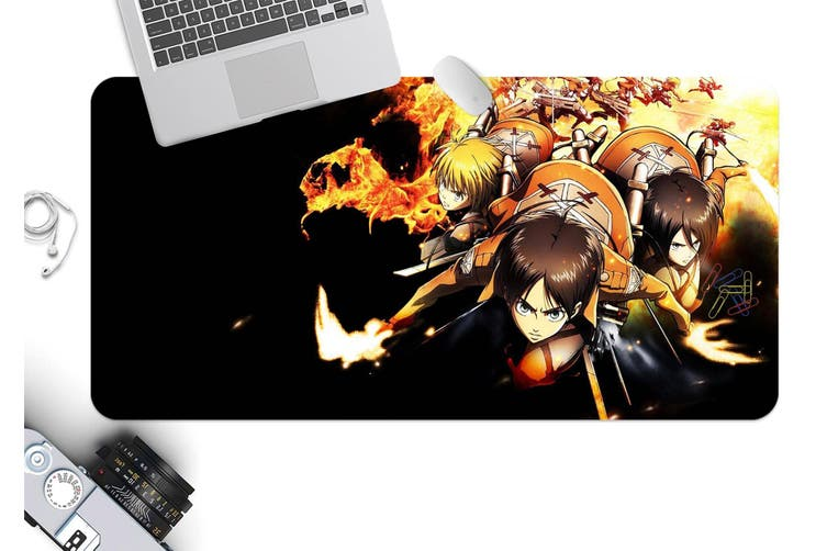 3D Attack On Titan 219 Anime Desk Mat, W60cmxH30cm(24''x12'')