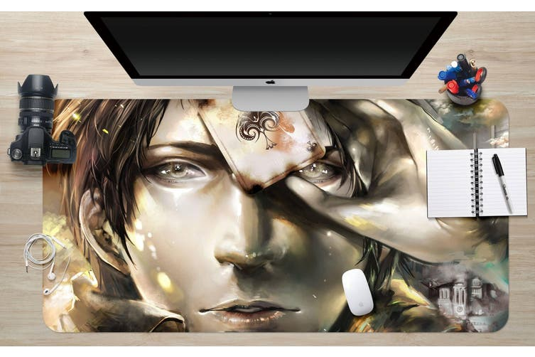 3D Attack On Titan 218 Anime Desk Mat, W60cmxH30cm(24''x12'')