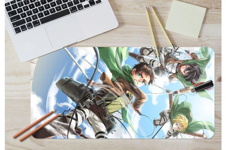 3D Attack On Titan 217 Anime Desk Mat, W60cmxH30cm(24''x12'')