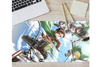 3D Attack On Titan 217 Anime Desk Mat, W80cmxH40cm(21''x16'')