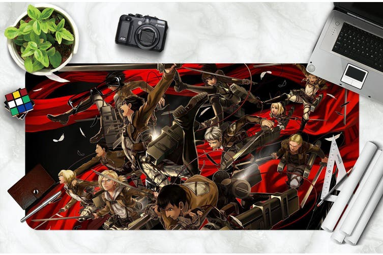 3D Attack On Titan 215 Anime Desk Mat, W90cmxH40cm(35''x18'')