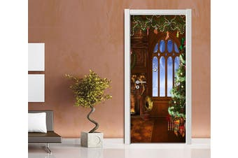 3D Wonderful Christmas Xmas 7 Door Mural Self-adhesive Vinyl