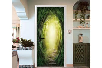 3D Forest Path Sunshine 93 Door Mural Woven paper (need glue)