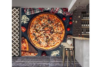 3D Freshly Baked Pizza 1452 Wall Murals Woven paper (need glue) Wallpaper Murals