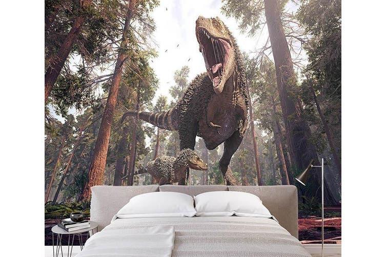 3D Ferocious Dinosaur 202 Self-adhesive Vinyl, XXXL 416cm x 254cm (WxH)(164''x100'')