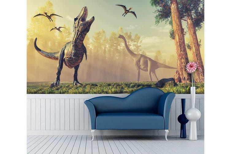 3D Tyrannosaurus Rex Howling 196 Self-adhesive Vinyl, XXXL 416cm x 254cm (WxH)(164''x100'')