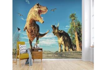 3D Tyrannosaurus Rex 195 Woven paper (need glue), XXL 312cm x 219cm (WxH)(123''x87'')