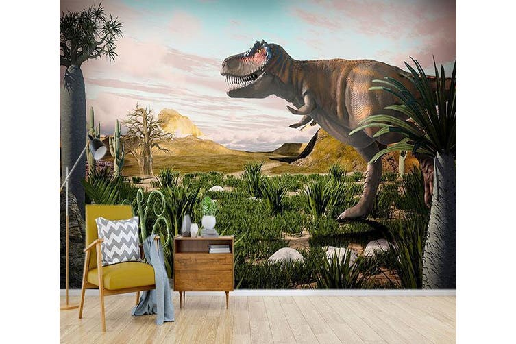 3D Cactus Dinosaur 193 Woven paper (need glue), XXXL 416cm x 254cm (WxH)(164''x100'')
