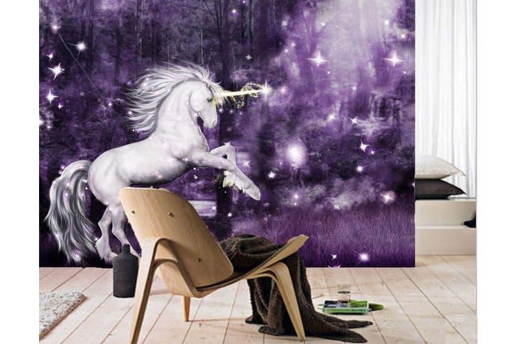 3D Night Star Unicorn 192 Self-adhesive Vinyl, XL 208cm x 146cm (WxH)(82''x58'')