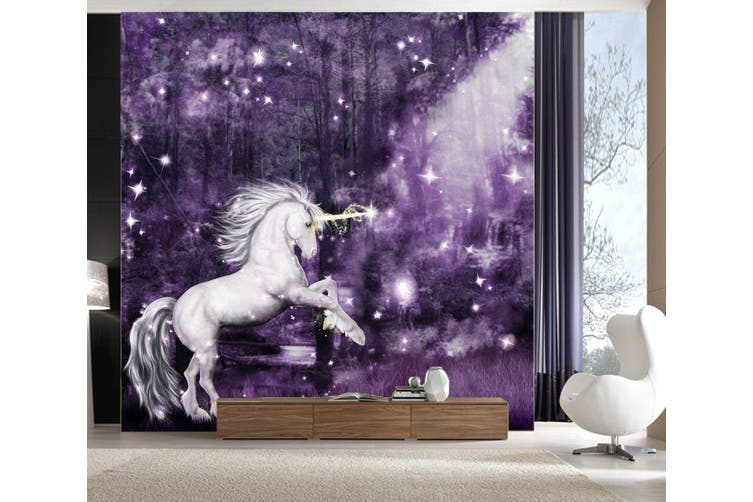 3D Night Star Unicorn 192 Self-adhesive Vinyl, XXL 312cm x 219cm (WxH)(123''x87'')