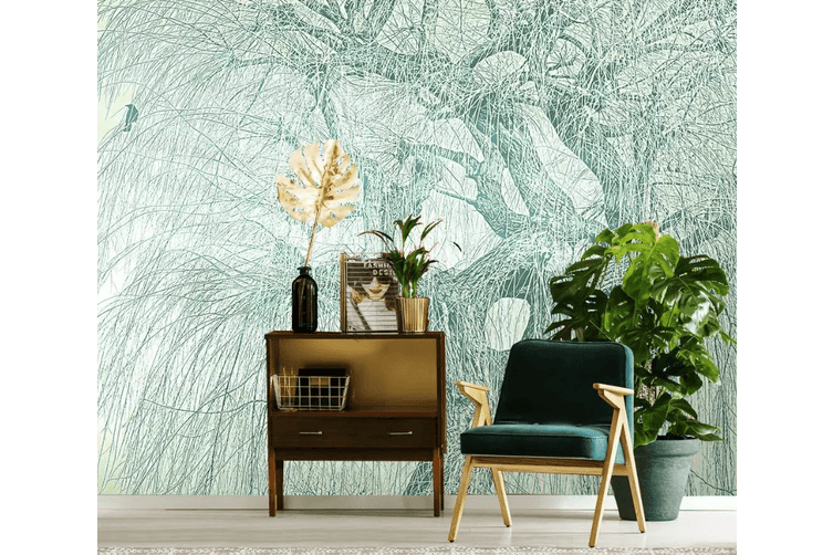 3D Willow Tree 1560 Self-adhesive Vinyl, XXXXL 520cm x 290cm (WxH)(205''x114'')