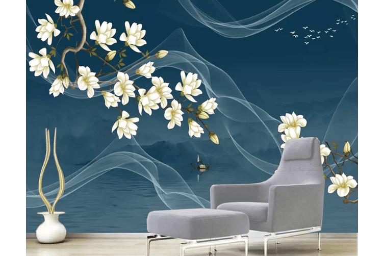3D Flower Smoke 1556 Woven paper (need glue), XL 208cm x 146cm (WxH)(82''x58'')
