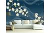 3D Flower Smoke 1556 Woven paper (need glue), XXXXL 520cm x 290cm (WxH)(205''x114'')