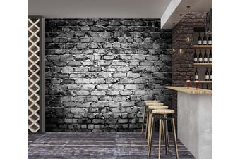 3D Black Bricks 1424 Wall Murals Self-adhesive Vinyl Wallpaper Murals
