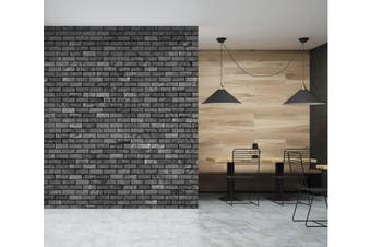 3D Black Bricks 1423 Wall Murals Self-adhesive Vinyl Wallpaper Murals
