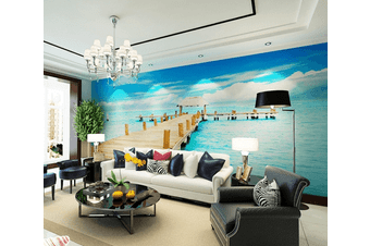 Sea Scenery 2 Wall Murals Wallpaper Murals Woven paper (need glue)