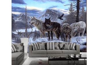 Wolves Wall Murals Wallpaper Murals Self-adhesive Vinyl
