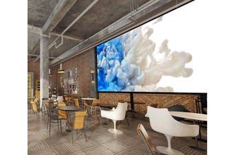 3D White-Blue Abstract Smoke 037 Wall Murals Wallpaper Murals Woven paper (need glue), XXXXL 520cm x 290cm (WxH)(205''x114'')