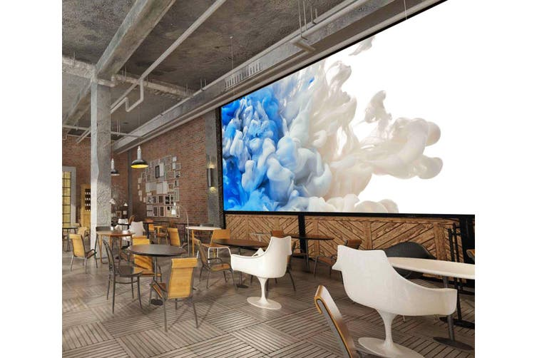 3D White-Blue Abstract Smoke 037 Wall Murals Wallpaper Murals Self-adhesive Vinyl, XXXL 416cm x 254cm (WxH)(164''x100'')