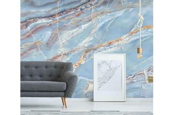 3D Light Blue Marbling 838 Wall Murals Wallpaper Murals Woven paper (need glue), XL 208cm x 146cm (WxH)(82''x58'')