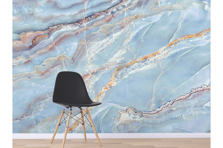 3D Light Blue Marbling 838 Wall Murals Wallpaper Murals Woven paper (need glue), XXXXL 520cm x 290cm (WxH)(205''x114'')