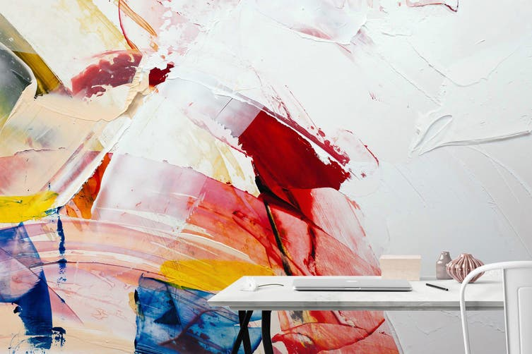 3D Abstract Paint 253 Wall Murals Wallpaper Murals Woven paper (need glue), XL 208cm x 146cm (WxH)(82''x58'')