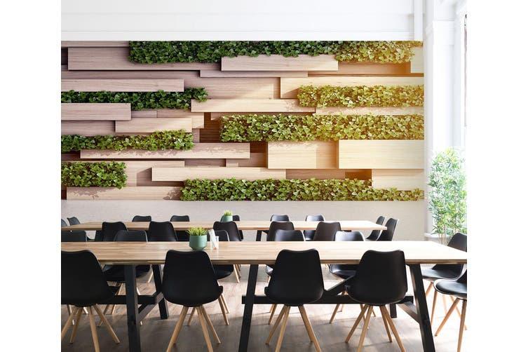3D Modern Wooden Block 24 Wall Murals Wallpaper Murals Woven paper (need glue), XL 208cm x 146cm (WxH)(82''x58'')