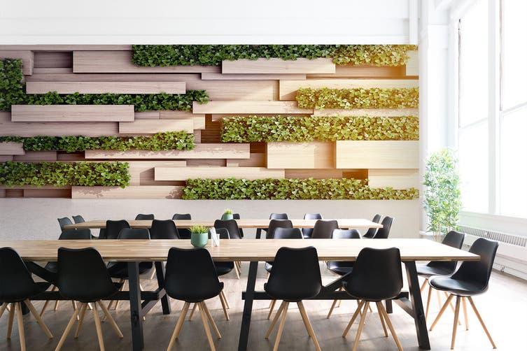 3D Modern Wooden Block 24 Wall Murals Wallpaper Murals Woven paper (need glue), XXXL 416cm x 254cm (WxH)(164''x100'')