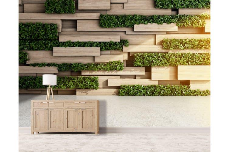 3D Modern Wooden Block 24 Wall Murals Wallpaper Murals Self-adhesive Vinyl, XL 208cm x 146cm (WxH)(82''x58'')