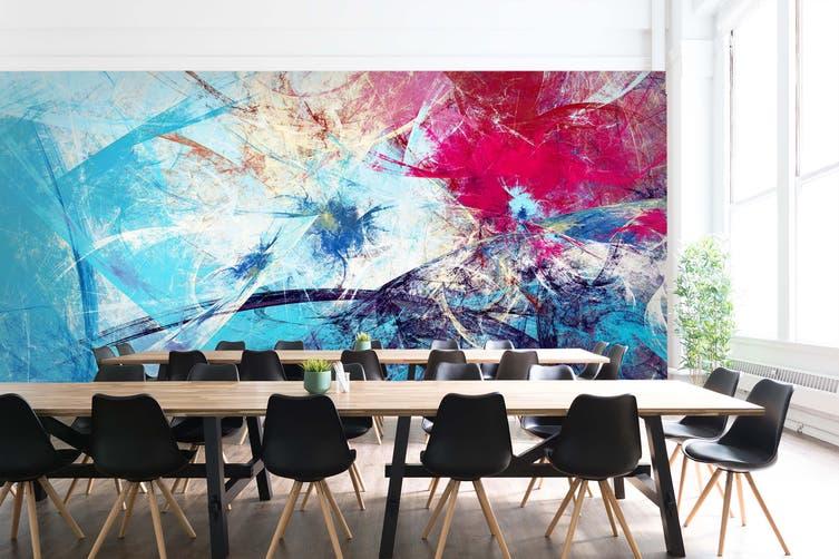 3D Cold Blue Pattern 498 Wall Murals Wallpaper Murals Woven paper (need glue), XL 208cm x 146cm (WxH)(82''x58'')