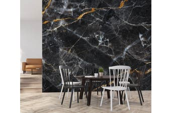 3D Black Marbling Texture 67 Wall Murals Wallpaper Murals Self-adhesive Vinyl, XXL 312cm x 219cm (WxH)(123''x87'')
