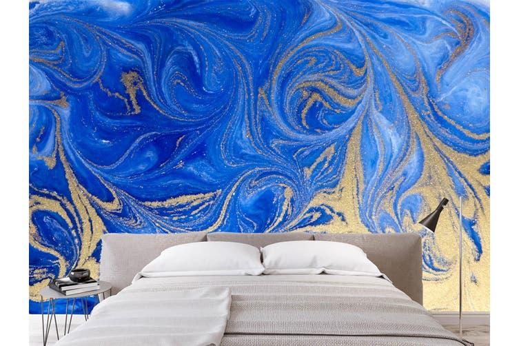 3D Golden-Blue Sand Texture 044 Wall Murals Wallpaper Murals Woven paper (need glue), XXL 312cm x 219cm (WxH)(123''x87'')