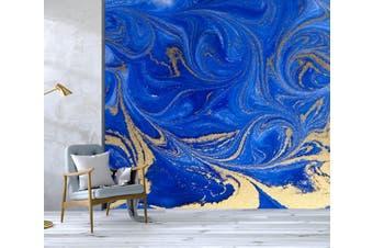 3D Golden-Blue Sand Texture 044 Wall Murals Wallpaper Murals Self-adhesive Vinyl, XXL 312cm x 219cm (WxH)(123''x87'')