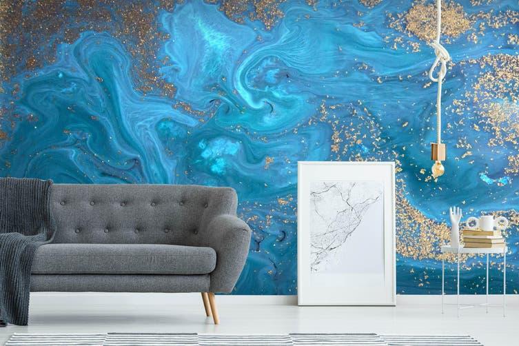 3D Blue Marbling Texture 035 Wall Murals Wallpaper Murals Self-adhesive Vinyl, XXXXL 520cm x 290cm (WxH)(205''x114'')