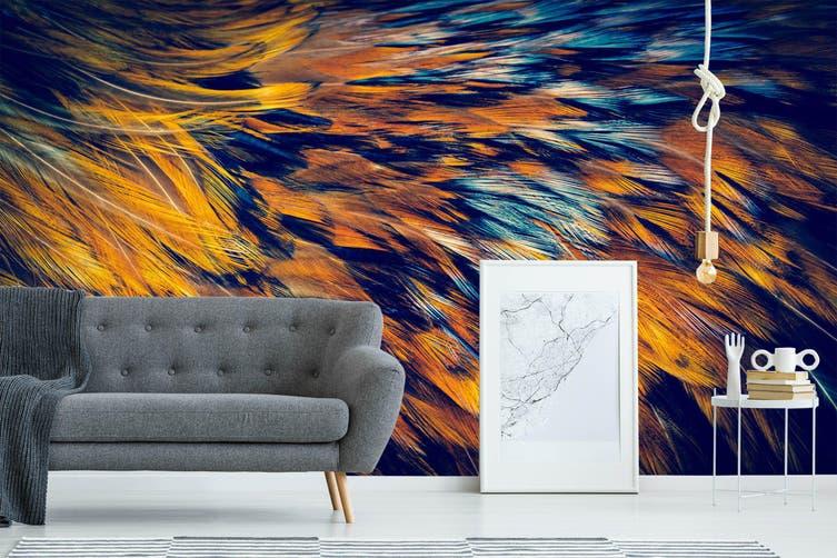 3D Feather Texture 015 Wall Murals Wallpaper Murals Woven paper (need glue), XL 208cm x 146cm (WxH)(82''x58'')