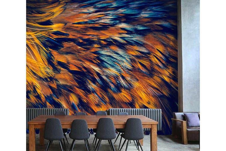 3D Feather Texture 015 Wall Murals Wallpaper Murals Woven paper (need glue), XXL 312cm x 219cm (WxH)(123''x87'')