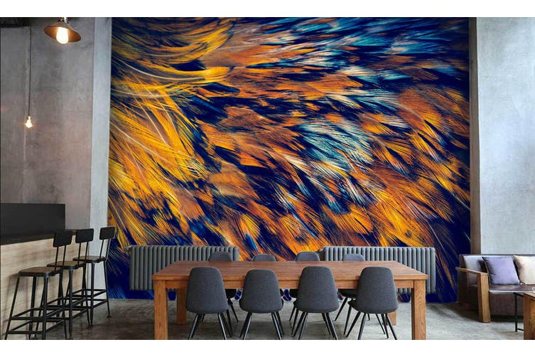 3D Feather Texture 015 Wall Murals Wallpaper Murals Self-adhesive Vinyl, XXL 312cm x 219cm (WxH)(123''x87'')