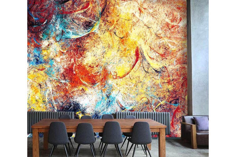 3D Artistic Bright Paint 65 Wall Murals Wallpaper Murals Self-adhesive Vinyl, XXXXL 520cm x 290cm (WxH)(205''x114'')