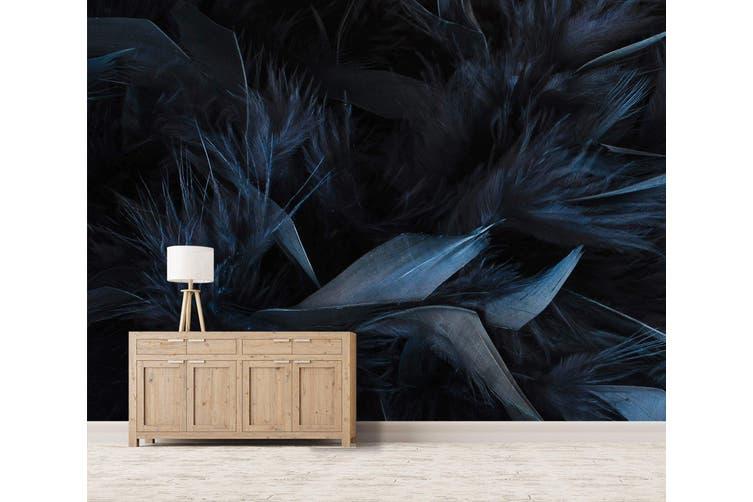 3D Dark Blue Feather 044 Wall Murals Wallpaper Murals Woven paper (need glue), XXXL 416cm x 254cm (WxH)(164''x100'')