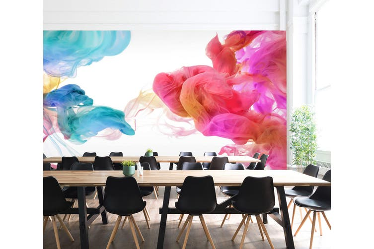 3D Colourful Smoke 028 Wall Murals Wallpaper Murals Woven paper (need glue), XXXL 416cm x 254cm (WxH)(164''x100'')